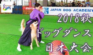 2018秋ドッグダンス日本大会に協賛します!10/28(日)